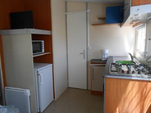 Cuisine du mobil-home Rapid'home - Camping Damgan